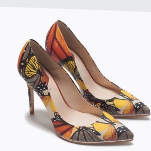 80eb5364dda ZARA Woman butterfly pumps Size 36. M 5a7de2e3f9e501c19a6572bb